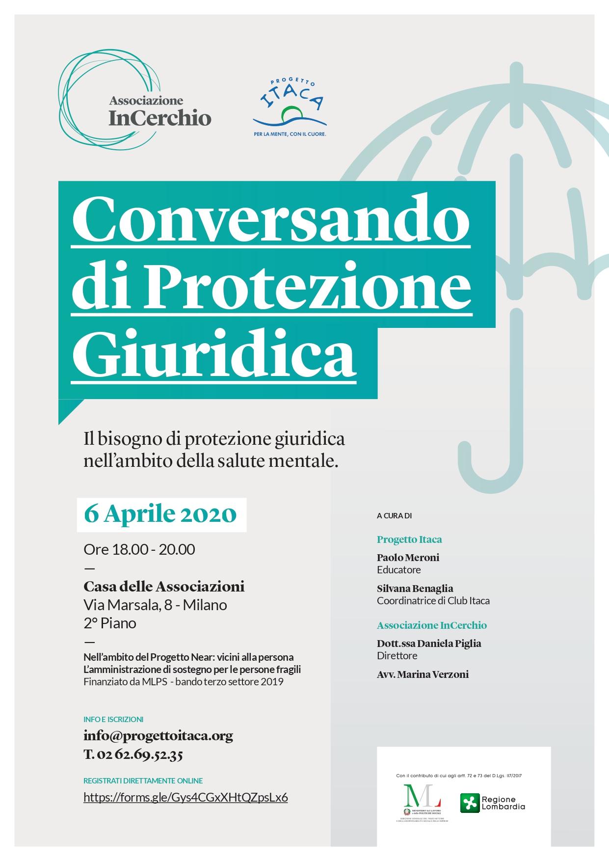 Conversando di Protezione Giuridica: Il bisogno di protezione giuridica nell'ambito della Salute Mentale